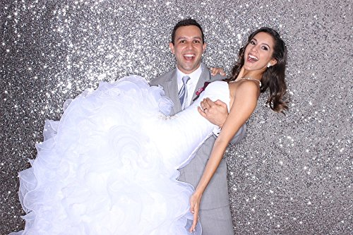 QueenDream 7ft x 7ft(84x84Inch) Gold sequin photography backdrop christmas,backdrop wedding decoration