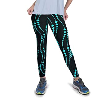KUKICAT Damen Laufhose Sporthose Sport Leggings Tights Digitale Stretch-Leggings mit hoher Taille an der Hüfte, die Fitness-Y