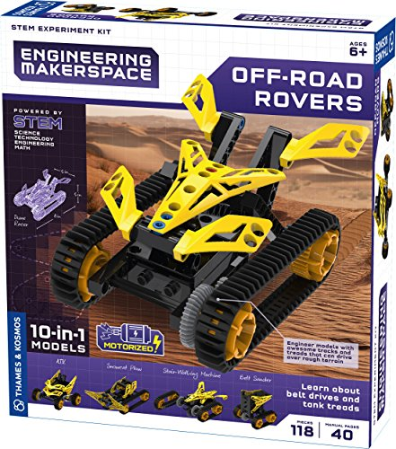 Thames & Kosmos Engineering Makerspace Off-Road Rovers Science Experiment Kit ()