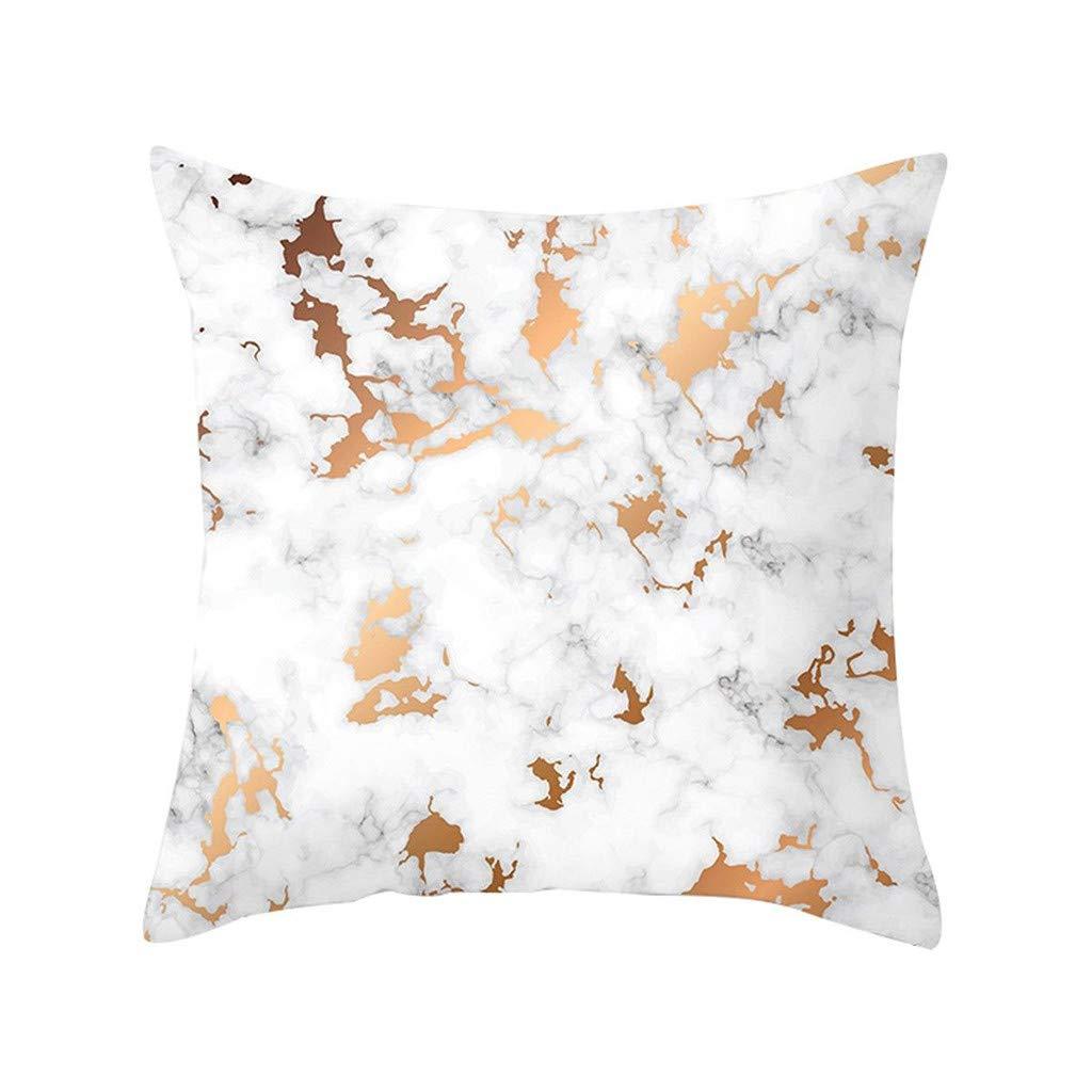 Pet1997 Multicolor Geometric Marble Texture Throw Pillow Case, Super Soft Pillowcase, Cushion Cover, Sofa Home Decor, Luxury Bedding,18 X18 Inch (F)