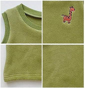 Maoav Baby Boys and Girls Warm Vest Toddler Polar Fleece Pullover Cartoon Kids Sweater Waistcoat
