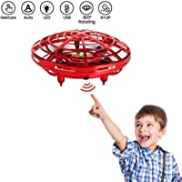 HALO NATION UFO Drone Hand Control with Flashing Light and USB Charger - Hand Sensor Drone Helicopter (Blue)