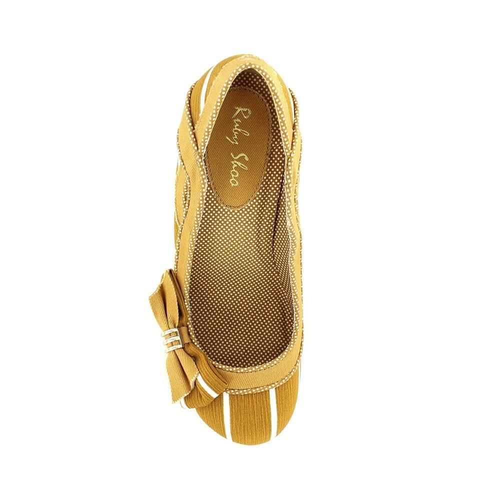 Ruby Shoo Miranda giallo bianca donna donna donna Heels Court scarpe 7609e4