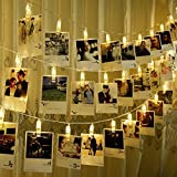 5m Hanging Picture Decoration Fairy Lights 20 Photo Clips String Lights in Warm White for Birthday Parties & Home Décor