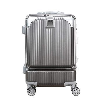 WODENINEK Viaje Caja El Nuevo Equipaje De Viaje Refuerzo De Bisagra Contraseña Maleta con Ruedas para Viajes De Negocios Maleta Liviana Material De Aluminio ...