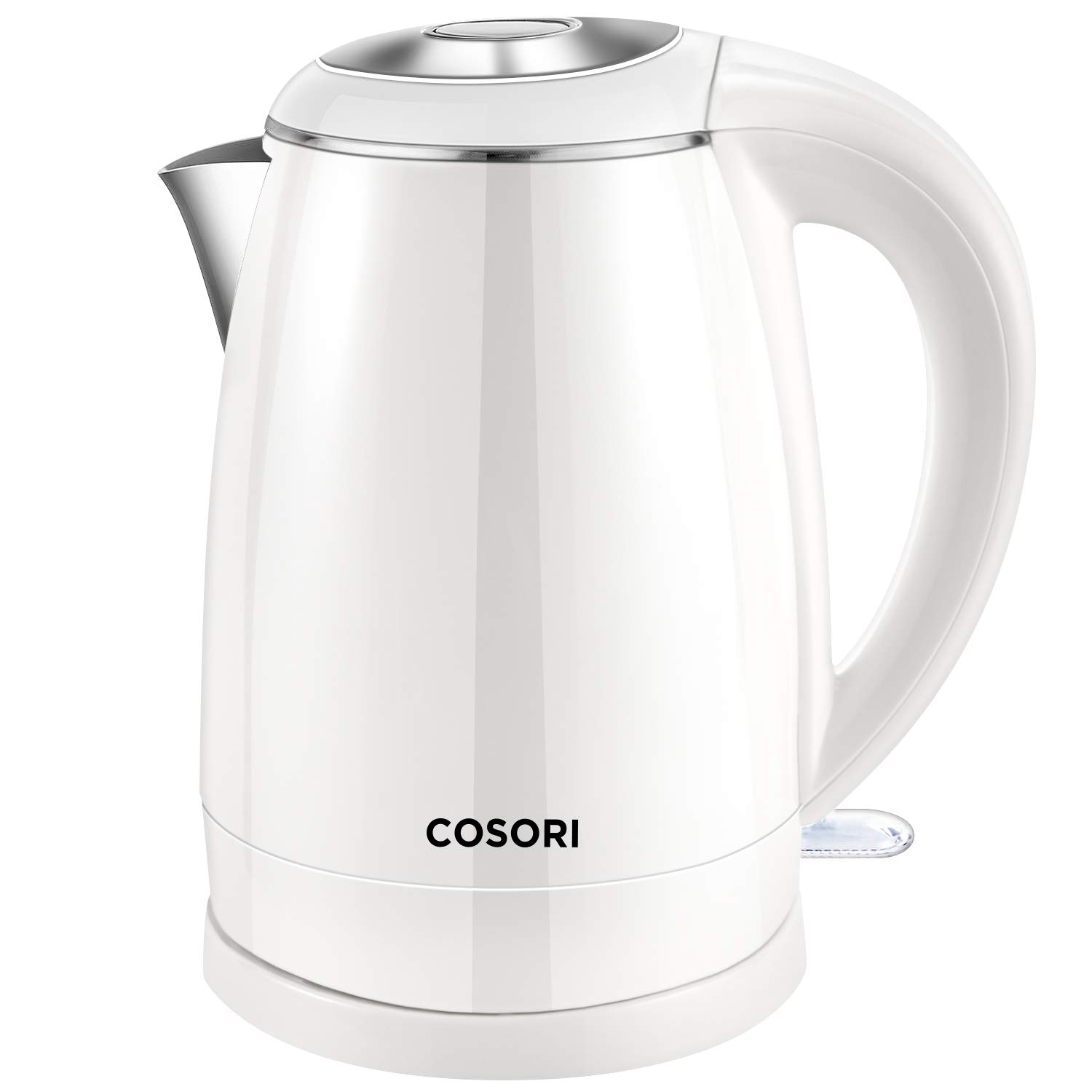 COSORI Electric Kettle(BPA Free), 1.8 Qt Double Wall 304 Stainless Steel Water Boiler & Tea Kettle, Auto Shut-Off and Boil-Dry Protection, Cordless, FDA/ETL/CETL Approved, 2 Year Warranty, White