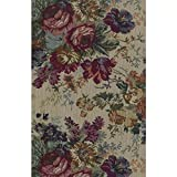Blazing Needles Tapestry Full Size Futon Cover in Rose Boquet - 9