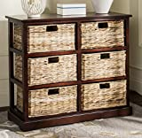 Safavieh American Homes Collection Keenan Cherry 6 Wicker Basket Storage Chest