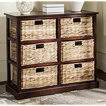 Attirant Safavieh American Homes Collection Keenan Cherry 6 Wicker Basket Storage  Chest