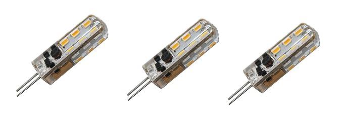 3x G4 - GU5,3 SMDs LED Leuchtmittel 3000K warm-weiß (TGG4-24) 12V AC ...