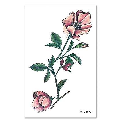 Etiquetas engomadas del tatuaje Europa y América brazo de flores ...