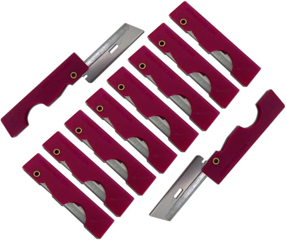 for Survival and First Aid Kits 10-pack Derma-Safe Folding Utility Razor
