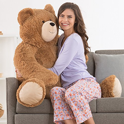 Vermont Teddy Bear   Giant Love Bear  4 Feet Tall  Brown