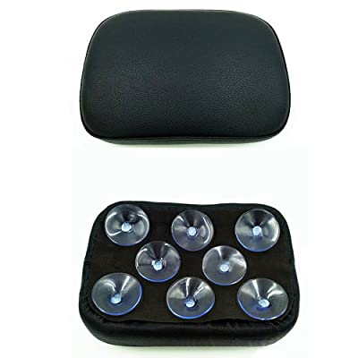 Black Pillion Pad Seat 8 Suction Cup Solo Rear Seat Passenger Saddle For Harley Dyna Sportster Softail Touring XL883 1200 48 (8): Automotive