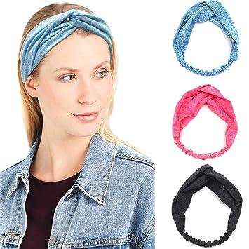 Stretch Headbands For Women Gym Sweatband Wrap Yoga Sports Hairbands Workout