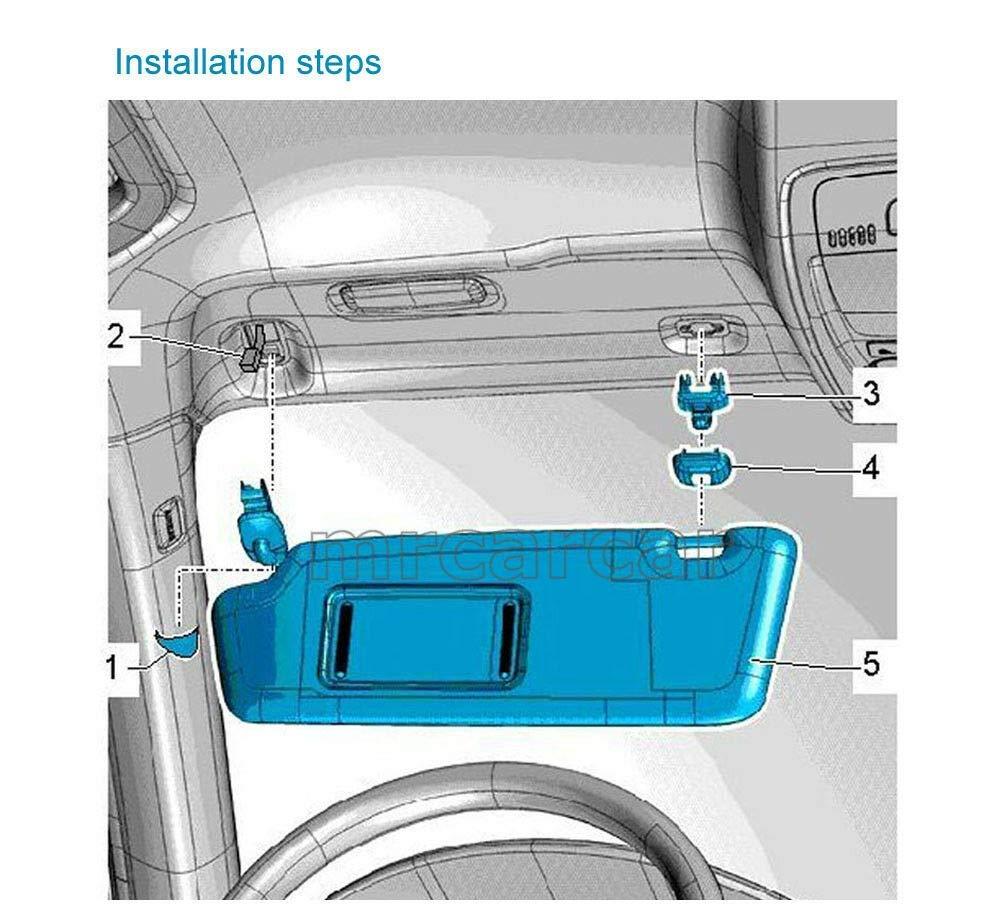 2-Pack Beige Interior Sun Visor Hook Clip Bracket for Audi A1 A3 A4 A5 Q3 Q5 Dark Beige 8E0 857 562
