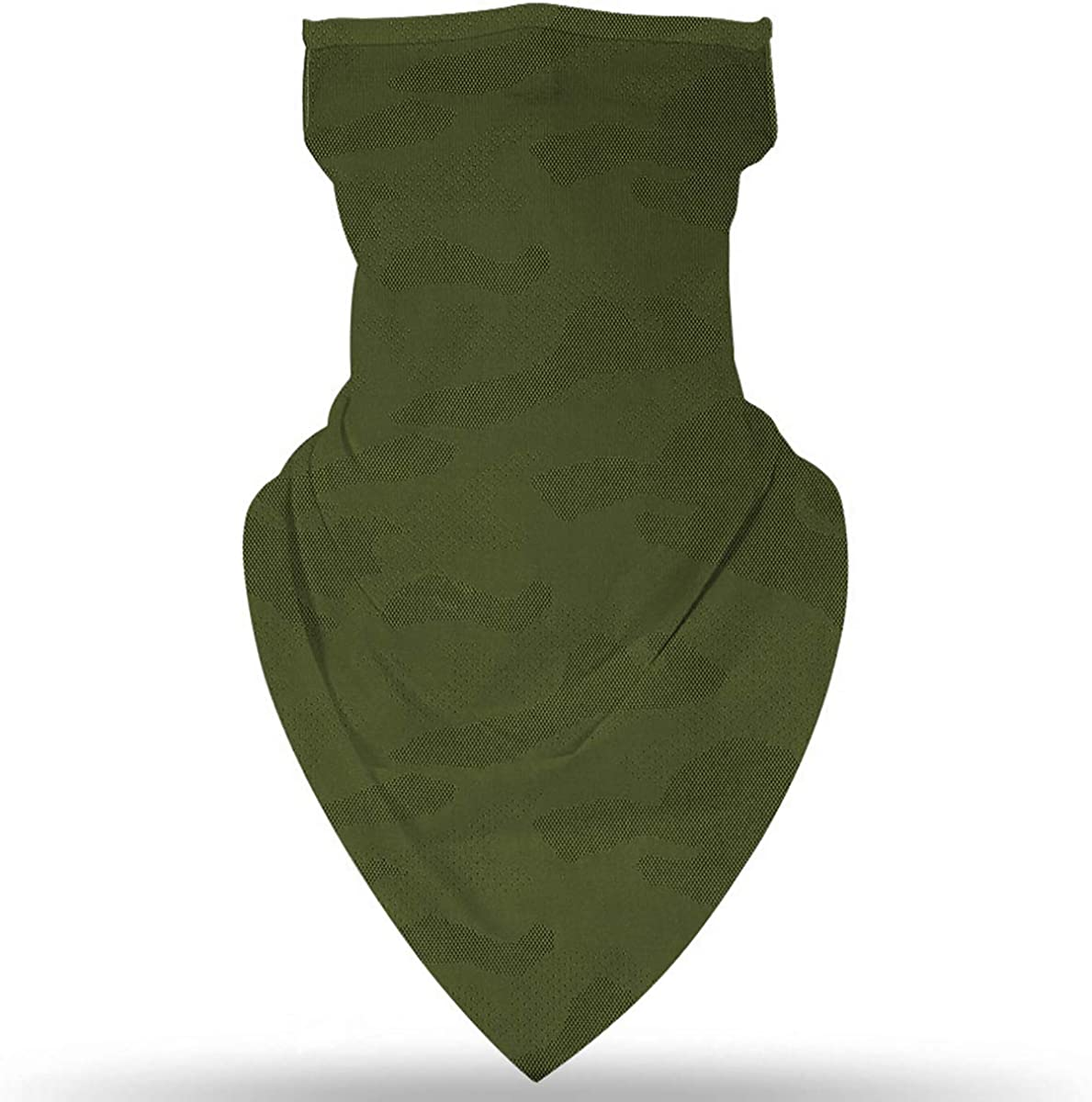 Neck Gaiter Ear Loops Bandanas for Women Men UV Wind Outdoor Cycling Hanging Balaclava face mask Ear-Green