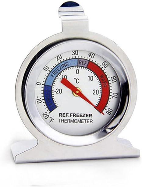 Gelentea - Termómetro para refrigerador y congelador, de acero ...