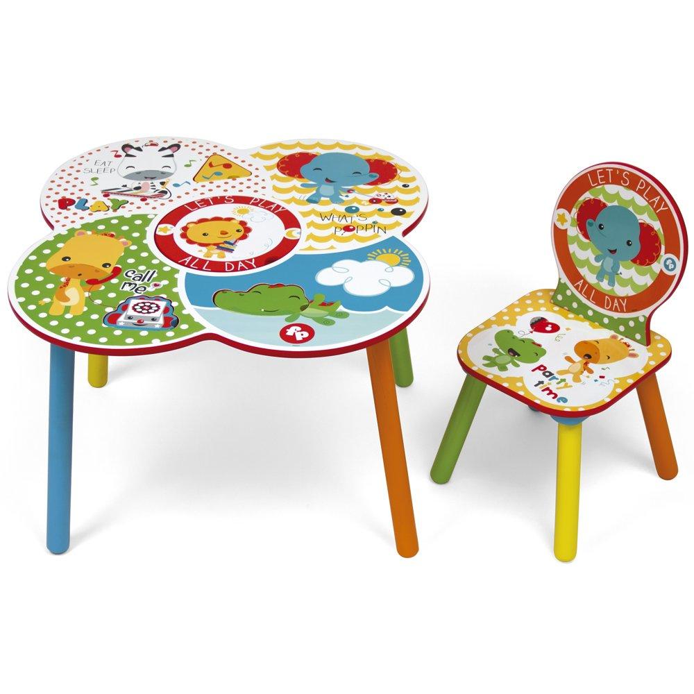 ROOM STUDIO fp10000Fisher Price Set Tisch/Stuhl Holz Weiß/Gelb 52x 60x 60cm Arditex