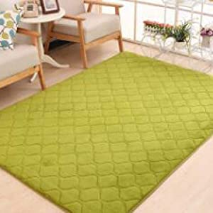 Area Rug for Baby Play Coral Velvet Carpet Solid Color Anti-Slip Bedroom Mat