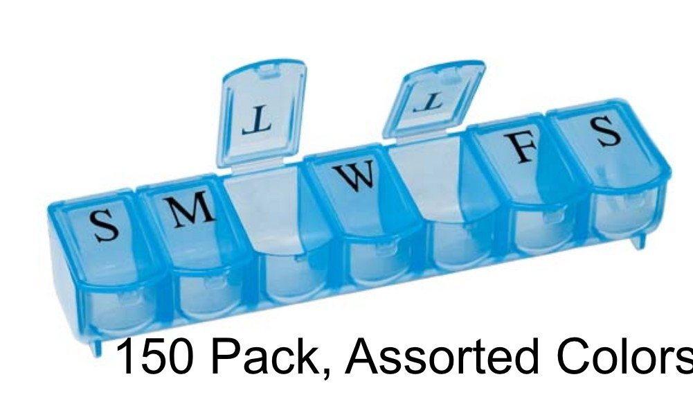 Ultra Bubble Lok 7-day Pill Organizer - Colors May Vary (150) by Apex