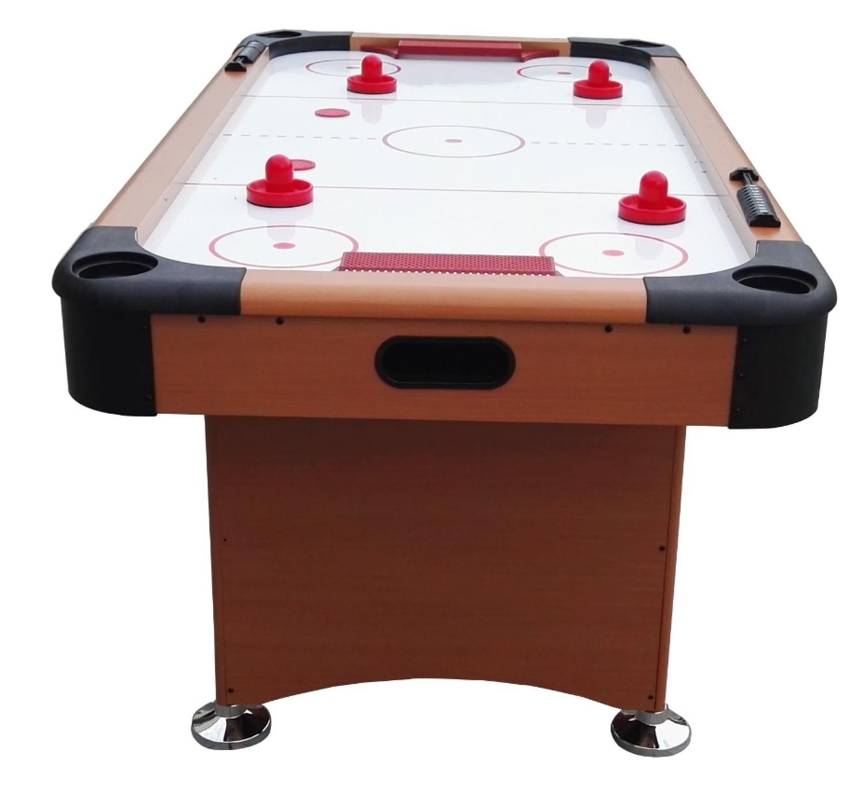 プール中央Recreationalエアホッケーゲームテーブル 6' 3' POOL CENTRAL A503-6FT B01N5807Q4 Brown/White/Red 6' 3'