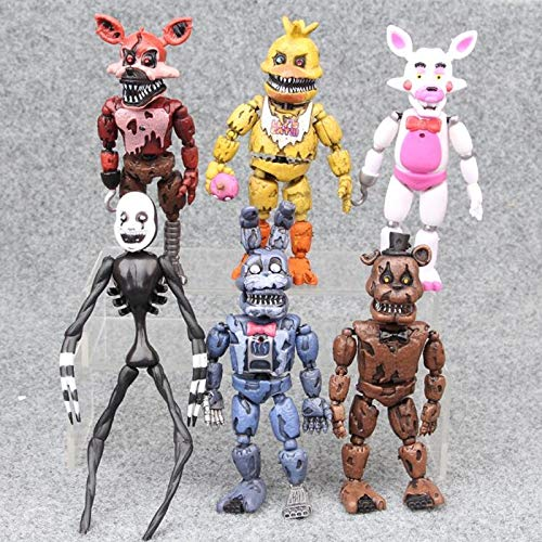 Five Nights At Freddy's World Halloween Edition (6Pcs/Set Five Nights at Dy Dy Chica Funtime PVC Action Figures Toys Kids Gift Baby Boy Must Haves Friendship Gifts The Favourite DVD Superhero Decorations One)
