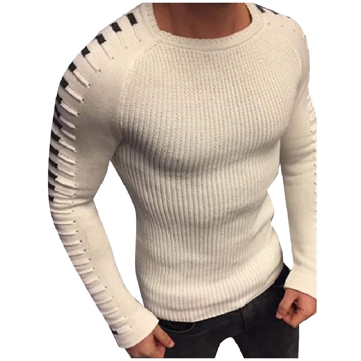 Comaba Mens Jerseys Warm Long-Sleeve Vogue Fall Winter Knitting Sweater