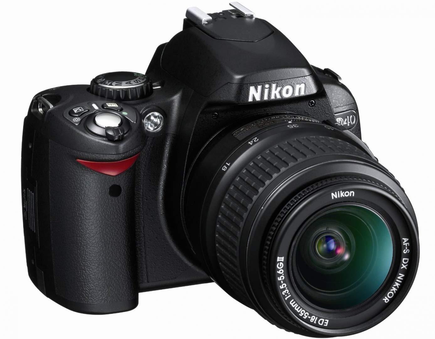 Amazon.com: Kit de cámara digital Nikon D40 de 6.1 MP ...