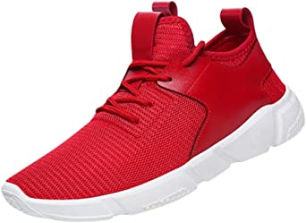 Zapatos de hombre zapatillas deportes hombre running Zapatos masculinos Casual Zapatos de camuflaje Zapatillas de Senderismo Deportivas Aire Zapatos para Correr hombres (Rojo, EU43 /CN 44): Amazon.es: Iluminación