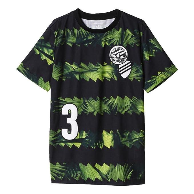 Camiseta adidas - J Soccer Jersey multicolor/negro/verde talla: 153 a 158 cm altura - de 12 a 13 años: Amazon.es: Ropa y accesorios