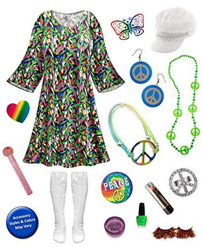 Bubble Run Costumes (Enchanted Gogo Dancer Plus Size Halloween Costume Deluxe Kit 4x/Regular)