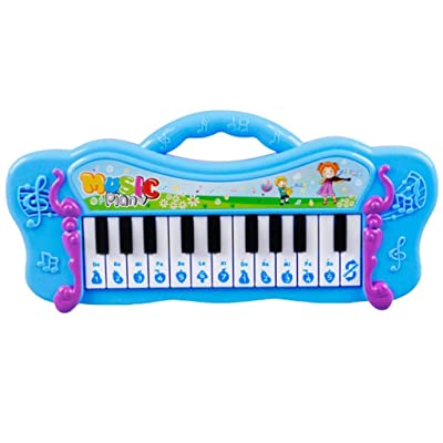 Kekailu Kids Keyboard,Kids Mini Electronic Piano Keyboard Musical Toy with 7 Pre-Loaded Demo Songs,Blue: Home & Kitchen