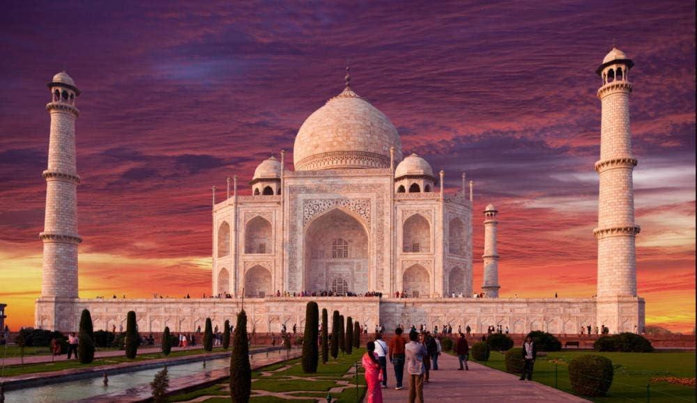 Jigsaw Puzzle 1000 Piece Jigsaws India_Temples_Fountains_Taj_Mahal For Kids Adult Festival Gift: Amazon.es: Hogar