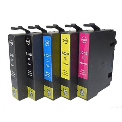 oguan Compatible Cartuchos de tinta paquete de 5 Epson T220 X L ...