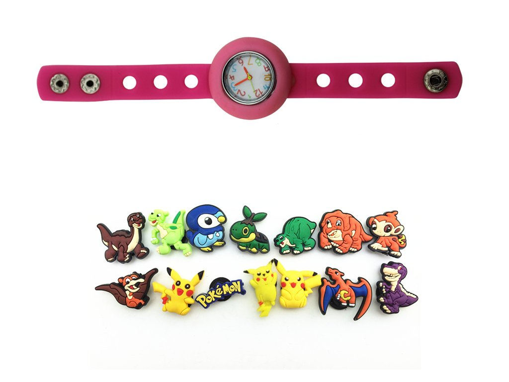 Amazon.com: 1 Pink Kids bricolaje reloj + 14 Pokemon Pikachu ...