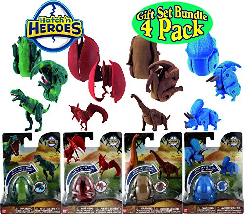 Hatch 'n Heroes Transforming Dinosaur Figures Tyrannosaurus for sale  Delivered anywhere in USA