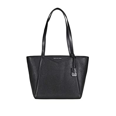 22d7eb2e5 Amazon.com: Michael Kors Whitney Small Leather Tote- Black: Shoes
