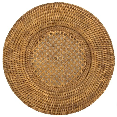 Entertaining with Caspari 13-inch Rattan Charger, 1-Count (Rattan Charger Plate)
