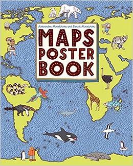 maps poster book aleksandra mizielinska daniel mizielinski