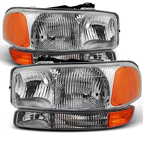 For GMC Sierra 1500 2500 3500 Yukon XL OE Replacement Headlights Driver/Passenger Head Lamps