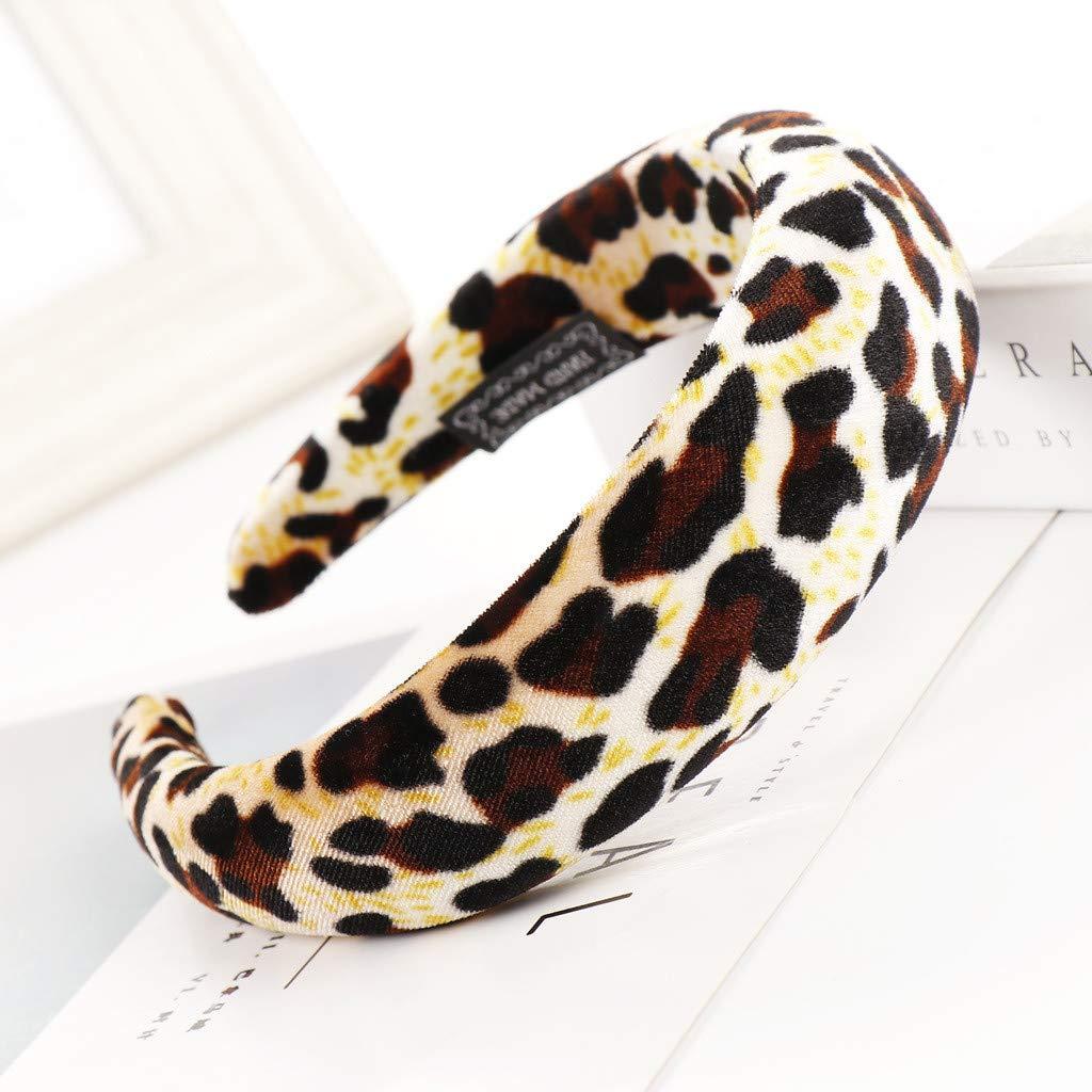 IYU_Dsgirh - Diadema elástica con diseño de leopardo: Amazon.es ...