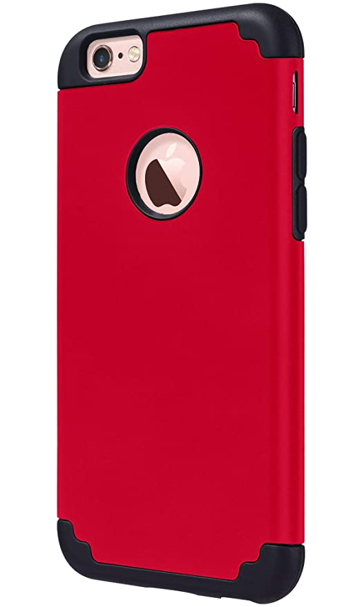 coque rouge et noir iphone 6