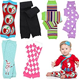 6 Pack Girl juDanzy leg warmers stripes, diamond ,dots &solids