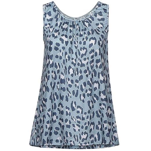 8ff4b61c5171d8 Women Lace Patchwork Top Sleeveless Tuxedo Vest Leopard Floral Blouse Cami Scoop  Neck Shirt Crop Tank