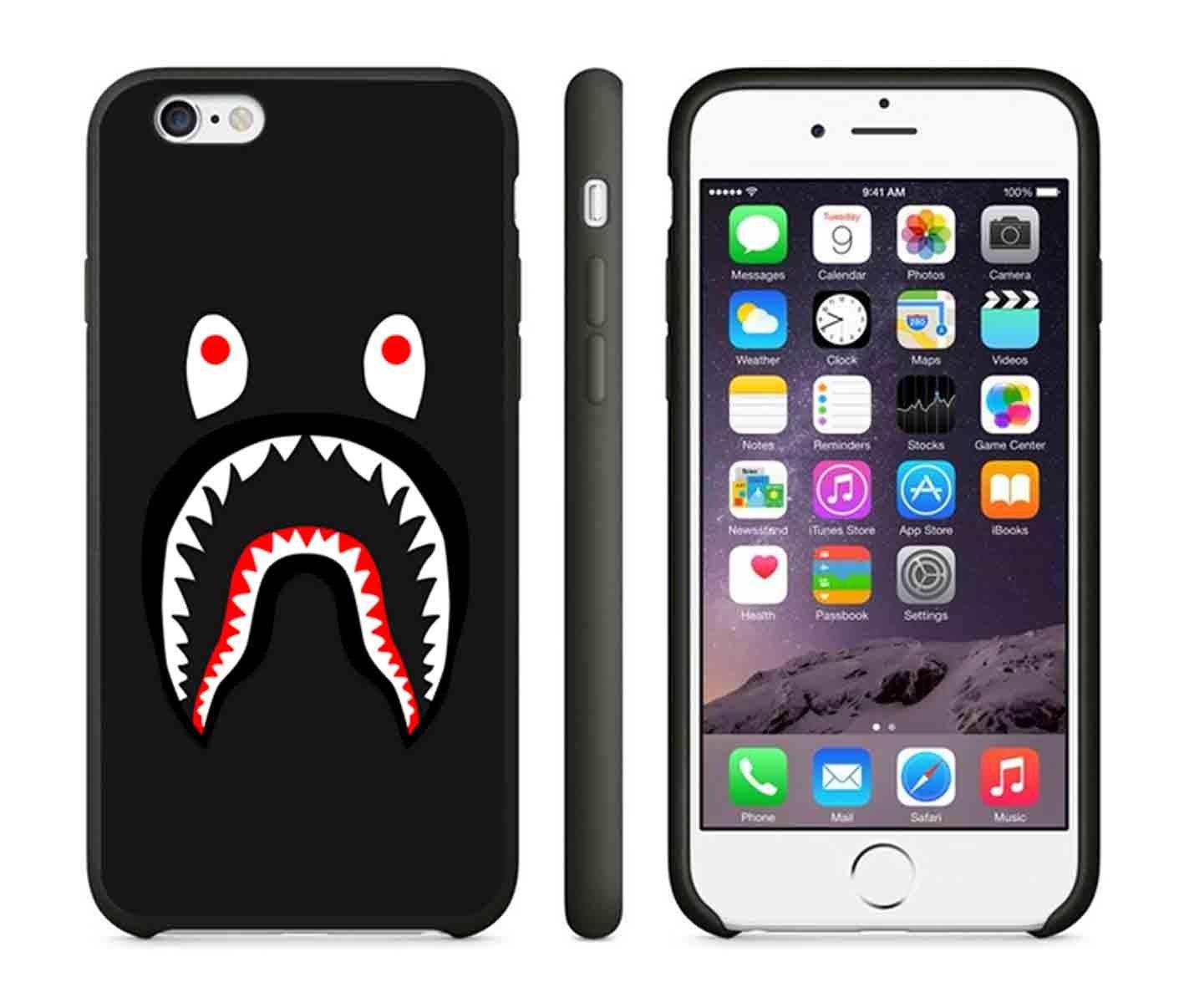 Bape Shark Iphone Case Iphone  Case Or Iphone S Black Rubber Gxzqk Amazon Co Uk Electronics