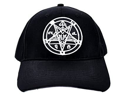 Amazon.com  Sabbatic Ritual Baphomet Hat Baseball Cap Alternative Clothing  Goat Head  Clothing 4405d90c963