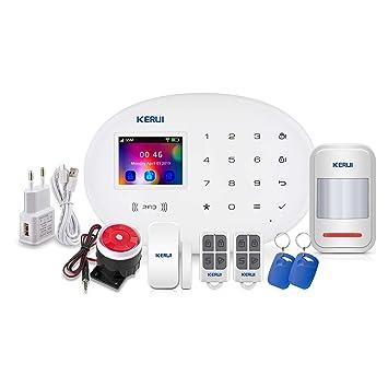 KERUI W20 Sistema Alarma Hogar gsm/WiFi sin cuotas Control por App ...