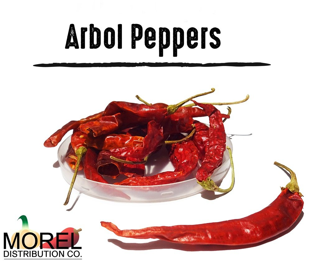Dried Arbol Pepper (Chile De Arbol) Weights: 2 Oz, 4 Oz, 8 Oz, 12 Oz, and 1 Lb!! (1 LB)