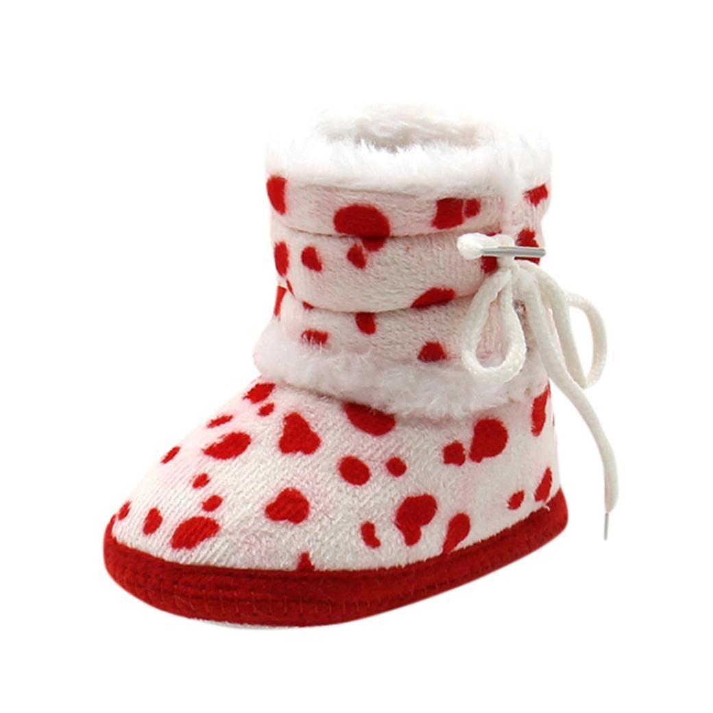 Amiley Christmas Baby Girls Boys Soft Booties Snow Boots Infant Toddler Newborn Warming Shoes